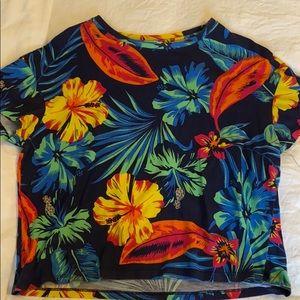 Tropical crop top shirt